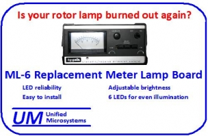 Rotor control box lamp replacement
