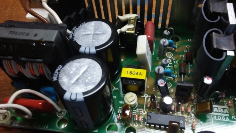 FT-1000MP power supply with new capacitors